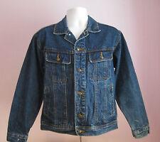 VTG 90s Mens WRANGLER RUGGED WEAR Blue Denim Jacket Size Small  (#E10)