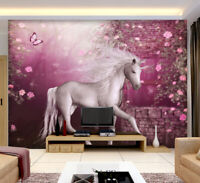 3D Kunst Einhorn  M288 Tapete Wandbild Selbstklebend Abnehmbare Aufkleber Amy