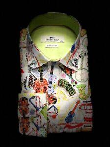 Mens Claudio Lugli Couture Musical Print CP6627 White