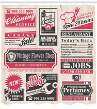 Retro Newspaper Magazine Decor Image Vintage Print Shower Curtain Set Extra Long