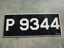 Antigua  license plate #  P 9344