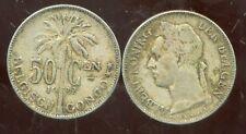 CONGO   BELGE   50 centimes 1922  (  belgisch )