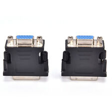 Black DVI TO VGA Adaptor DVI-A / DVI-I SVGA HD15 Analog Monitor Converter TS Hot