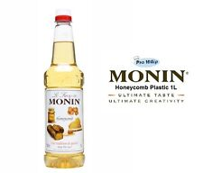MONIN Coffee Syrups - HONEYCOMB - 1L Plastic Bottle - USED BY COSTA COFFEE