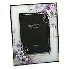 "Juliana Pink Butterfly/Flowers Glass Wire Photo Frame 4"" X 6"""