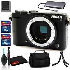 Nikon 1 J5 Mirrorless Digital Camera (Black) - Tripod, Case, and (2)16GB Cards
