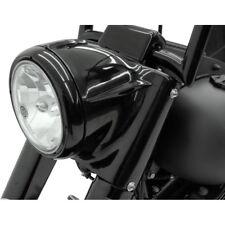 "Drag Specialties Black Headlight Nacelle Kit for 7"" Light 86-17 Harley Softail"