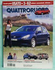 QUATTRORUOTE-2001-N.547-PEUGEOT 307-LAGUNA-GIUGIARO-ALFA 156-MAZDA-YARIS-BMW