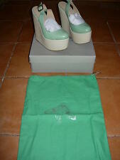 chloe green misha wedge shoes,never been worn