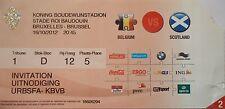 TICKET 16.10.2012 Belgien Belgium - Schottland Scotland