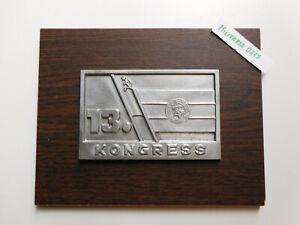 DDR Ehren Plakette  13 . Kongress DSF Deutsch Sowjetische Freundschaft