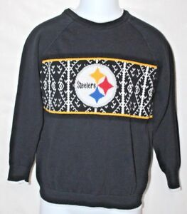 NFL Team Apparel Youth Small (6-7) Pittsburg Steelers Black Sweater