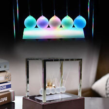 Newtons Cradle LED Light Up Kinetic Energy Home Office Science Toy Home Decor US