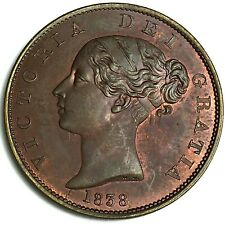 More details for 1838 half penny a.unc collectable grade ref:e93