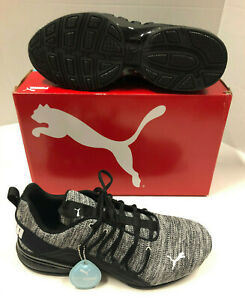 Puma Shoes Gray Axelion Fabric Soft Foam Casual Athletic Shoes Mens 13