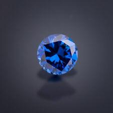 1 Zirkonia 8 mm rund Sonderfarbe blau CZ // Qualität AAA+Zirkonia