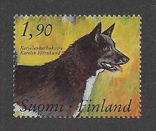 Rare Dog Art Portrait Stamp Karelian Bear Dog Full Body Study Finland Mnh