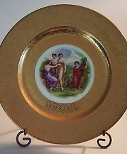 """Royal China 22 Carat Gold Encrusted 10 1/2"""" Cabinet Plate by Angelica Kauffman"""