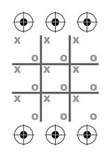 Tic-Tac-Toe Range Shooting targets for competition and games    40 Targets