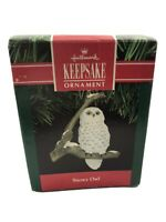 Hallmark Keepsake Christmas Ornament SNOWY OWL 1991 Box Vintage Holiday Decor