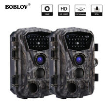 2 Pack BOBLOV 18MP 1080P 24 Infrared LEDs Wildlife Scouting Trail Hunting Camera