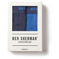 Ben Sherman Underwear Ernie Trunks Boxer Brief 2 pack Blue XL New NWT
