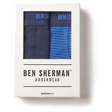 Ben Sherman Underwear Ernie Trunks Boxer Brief 2 pack Blue XL New NWT