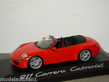 Porsche 911 991 Carrera Cabriolet van Minichamps 1:43 in Box *24281