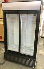 2 door refrigerator Glass Merchandiser Double Door Beverage Cooler Drink Sliding
