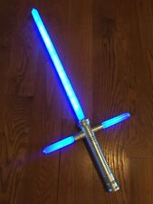 BLUE LIGHTSABER New Like in Star Wars Cross Guard Light Up LED Sword With Sound