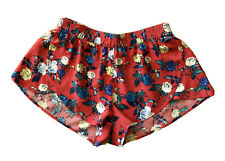 Forever 21 Red Floral Shorts Size M