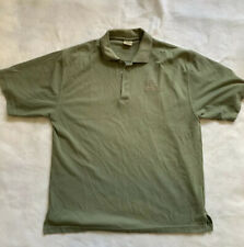 Ducks Unlimited Tan Golf Polo Logo Shirt 3 Button Collared Size XL