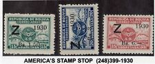 Bolivia 1930 Airpost surcharged Zeppelin set