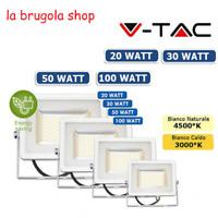 FARO FARETTO VTAC LED V-TAC SMD 20W 30W 50W 100W SLIM ESTERNO ULTRA SOTTILE