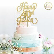 40th Name Cake Topper,40 Topper, Customized Name Cake Topper 16 18 21 50 60