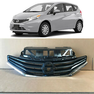 Front Upper Bumper Grille Assembly Chrome Trim for 2014 2016 Nissan Versa Note