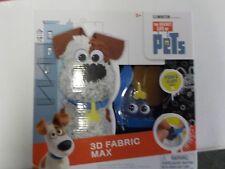 ILLUMINATION THE SECRET LIFE OF PETS 3D FABRIC MAX NIB GM1495