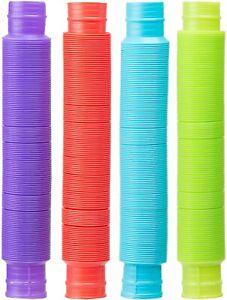 4Pack Colorful Slinky Brand Pop Toob Kids Spring Toy
