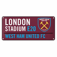 West Ham United FC Official Window Street Sign