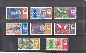 Qatar - 1965 - Centenary of ITU - SG-62-69 - MNH - cat £39