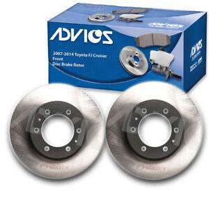 2 pc ADVICS Front Disc Brake Rotor for 2007-2014 Toyota FJ Cruiser  - vq