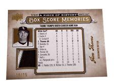 2008 Upper Deck Box Score Memories Gold Patch #BSM-12 Jim Thome 19/25 White Sox