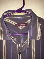 Men's Tommy Bahama long sleeve, button down shirt<>XL<>100% silk<>