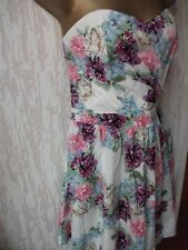 BNWT Lipsy Size 14UK Floral Summer Bandeau  DressTag-RRP:£50