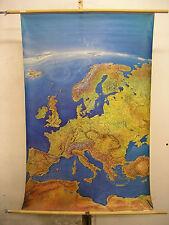 Schulwandkarte schöne alte Europa Europakarte 97x144 Panoramakarte Panorama 1999