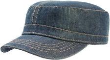 Atlantis Cappello Berretto Uniform Cappellino Blu Jeans Denim Army Caps Hats