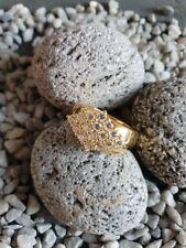 Ring Größe 56 Punze unleserlich 925 Silber vergoldet Zirkonia edel 5,70 g CP5021