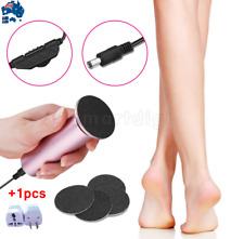 AU Electric Callus Remover Machine Discs Foot File Pedicure Tool w/ 60 Sandpaper