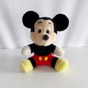"Mickey Mouse Disney Tokyo Disneyland Vintage 80's Stuffed 7"" Plush Toy"