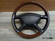 Mitsubishi carisma 1,8 GDI volante de cuero con madera Nardi (22)
